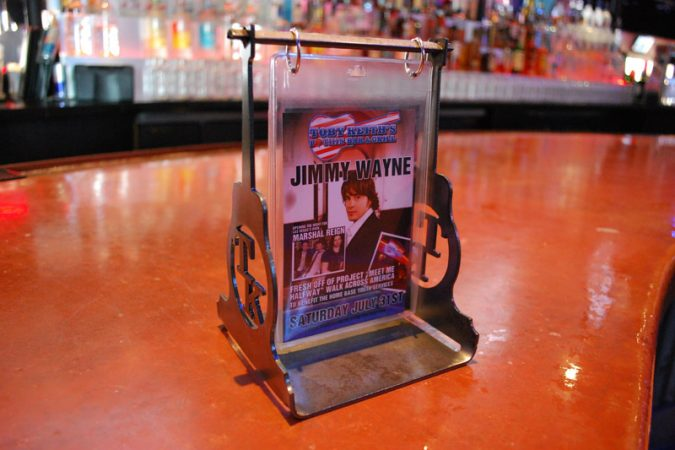 Custom Metal Table Tents for Bars and Restaurants