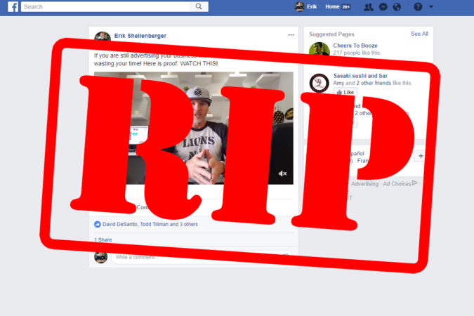 Proof that free Facebook posts don't work